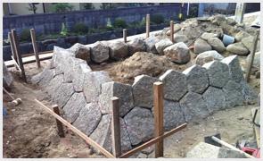立野神社石造物復旧工事