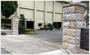 犬山高校門柱工事